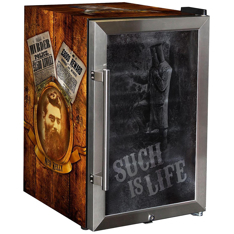 Ned Kelly Designed Glass Door Bar Fridge