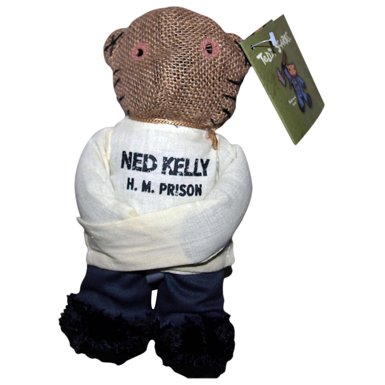"""Teddy Scares Ned Kelly 8"""" Bear"""