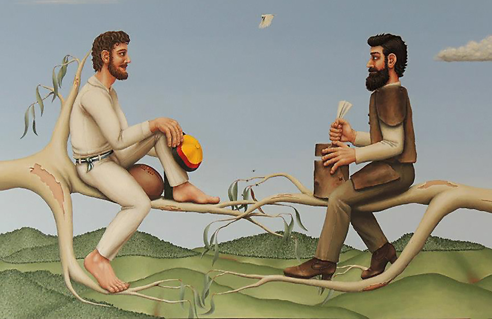 Tom Wentworth Wills and Ned Kelly by Richard Webber